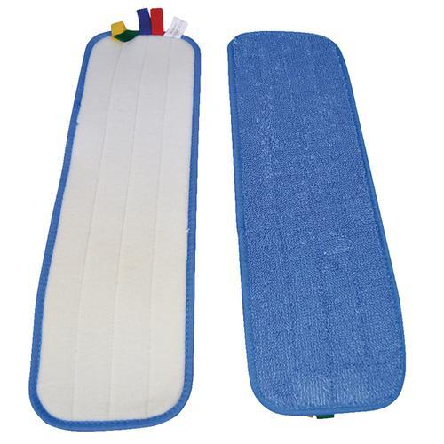 Microfibre flat mop pad